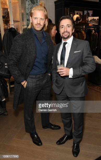 Alistair Guy and Richard Hammond celebrating the Iconic Belstaff Trialmaster at the New Bond Street with Ciroc Vodka on November 1 2018 in London...