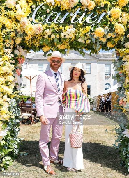 Alistair Guy and Vicky Lee attend Cartier Style Et Luxe at The Goodwood Festival Of Speed Goodwood on July 15 2018 in Chichester England