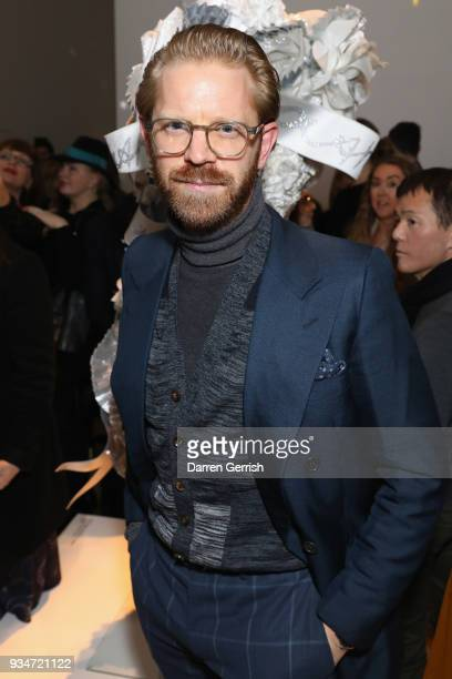 Alistair Guy attends Atelier Swarovski 10th Anniversary Book Launch at Phillips Gallery on March 19 2018 in London England