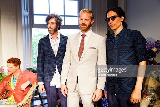 Alistair Guy attends British brand Thomas Pink's Spring/Summer 2016 collection presentation at the Institute Of Contemporary Arts as part of London...