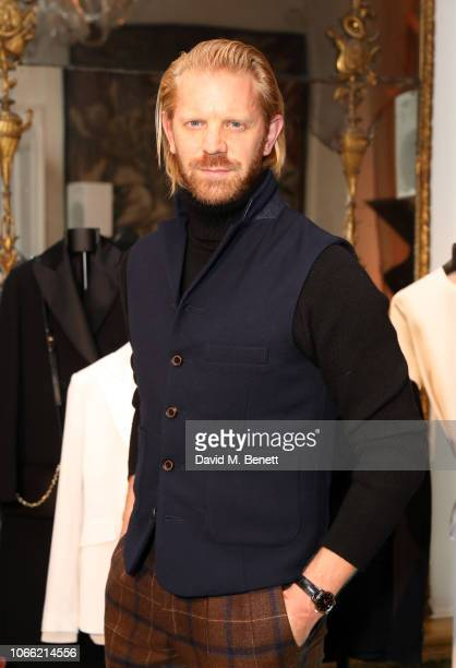 Alistair Guy attends Paul Smith Womens Tuxedo Launch at the Italian Embassy on November 28 2018 in London England