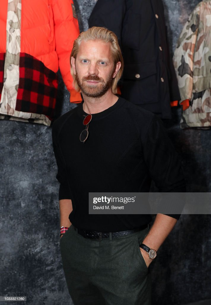 Alistair Guy attends the Griffin X Woolrich capsule collection launch presented by Highsnobiety during London Fashion Week September 2018 at 180 The Strand on September 14, 2018 in London, England.