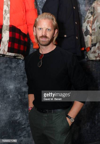 Alistair Guy attends the Griffin X Woolrich capsule collection launch presented by Highsnobiety during London Fashion Week September 2018 at 180 The...