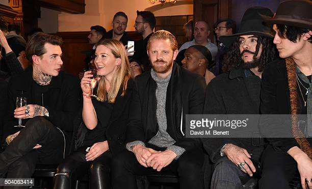 Alistair Guy attends the Joshua Kane Bespoke with Lab Series front row during London Collections Men AW16 at Christ Church Spitalfields on January 8...