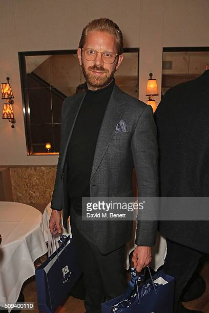 Alistair Guy attends the launch of Italian restaurant and menswear boutique Chucs on Westbourne Grove on February 10 2016 in London England