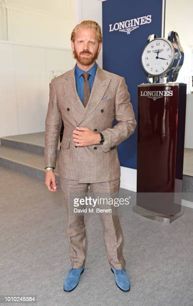 Alistair Guy attends the Longines hospitality lounge during the Global Champions Tour at Royal Hospital Chelsea on August 3 2018 in London England