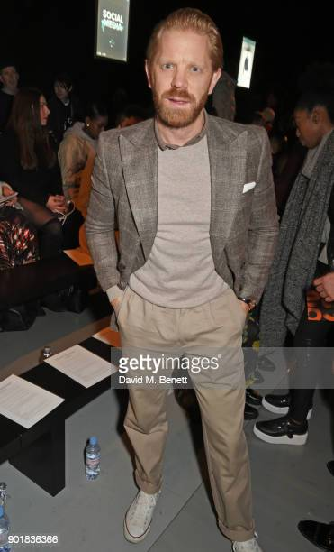 Alistair Guy attends the Oliver Spencer LFWM AW18 Catwalk Show at the BFC Show Space on January 6 2018 in London England