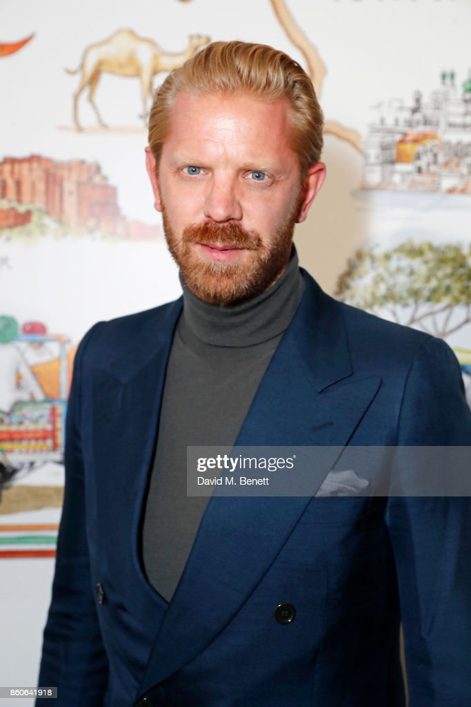 Alistair Guy attends the Travels to My Elephant racer send-off party hosted by Ruth Ganesh, Ben Elliot and Waris Ahluwalia in association with The Luxury Collection at 1 Horse Guards Avenue on October 12, 2017 in London, England.