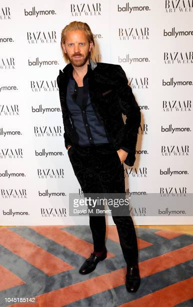 Alistair Guy attends the unveiling of new Guggi sculpture at Embassy Gardens hosted by Ballymore and Harper's Bazaar as part of Bazaar Art Week on...