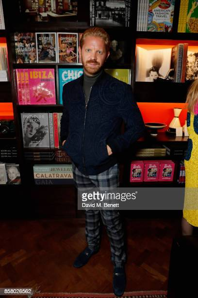 Alistair Guy join artworld power couple Simon and Michaela de Pury for Austin Lee Frieze preview and party at Maison Assouline on October 5 2017 in...
