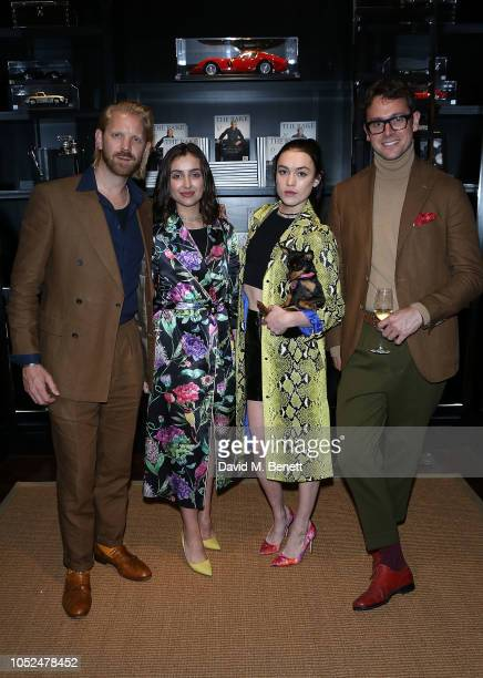Alistair Guy Maria Chirita Ella Catliff and Ryan Thomas attend an anniversary party celebrating 50 years of Ralph Lauren and 10 years of The Rake on...