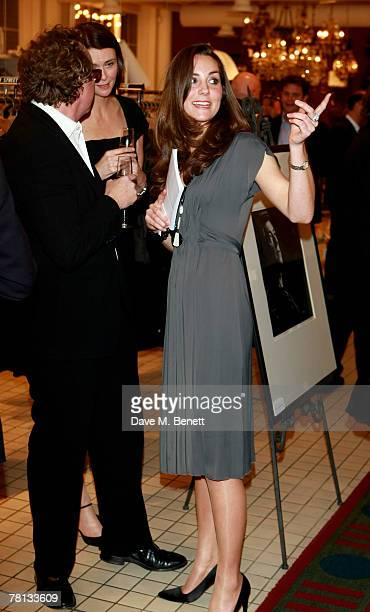 Alistair Morrison and Kate Middleton attend the book launch party of 'Time To Reflect' by photographer Alistair Morrison at Bluebird on November 28...