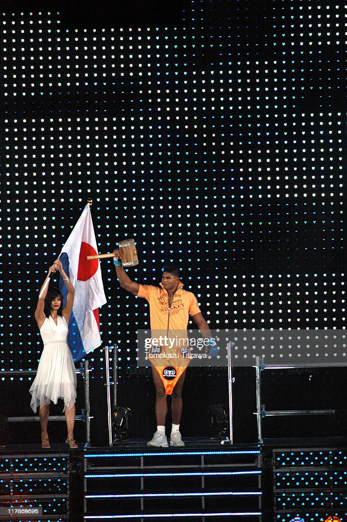 Alistair Overeem Entering the Arena during Pride Grand Prix 2005 - Final Round - Match - August 28,2005 at Saitama Super Arena in Saitama, Saitama Super Arena, Japan.