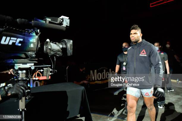 Alistair Overeem of the Netherlands enters the arena prior to his Heavyweight bout during UFC Fight Night at VyStar Veterans Memorial Arena on May...