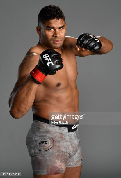Alistair Overeem of the Netherlands poses for a portrait after his victory during the UFC Fight Night event at UFC APEX on September 05, 2020 in Las...