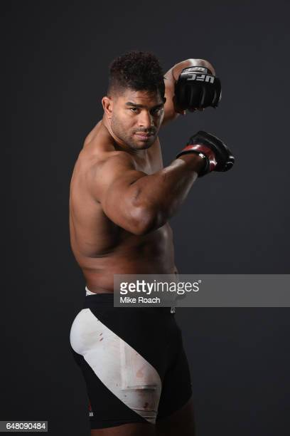 Alistair Overeem of the Netherlands poses for a portrait backstage during the UFC 209 event at TMobile Arena on March 4 2017 in Las Vegas Nevada