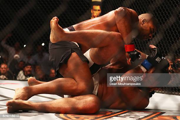 Alistair Overeem of the Netherlands punches on his way to victory over Andrei Arlovski of Belarus in their Heavyweight bout during the UFC Fight...