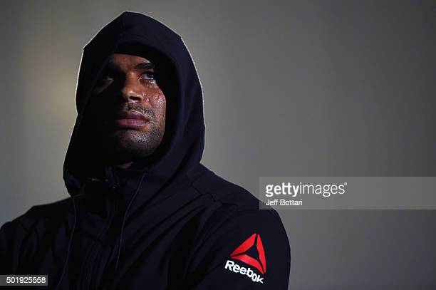 Alistair Overeem of the Netherlands waits backstage during the UFC weighin inside the Orange County Convention Center on December 18 2015 in Orlando...