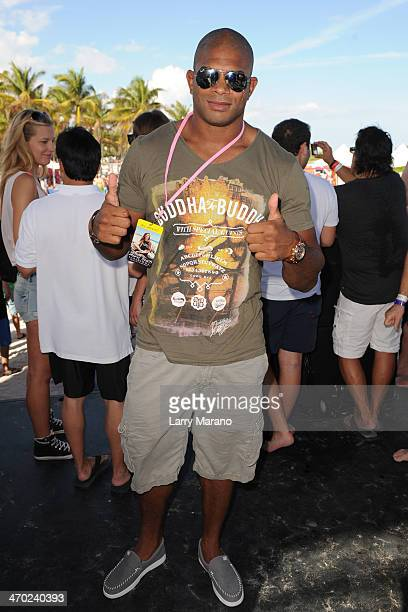 Alistair Overeem participates in the Model Beach Volleyball Tournament on February 9 2014 in Miami Beach Florida