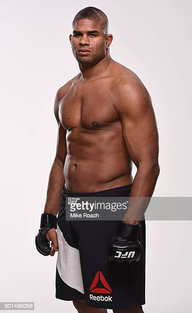Alistair Overeem poses for a portrait during a UFC photo session at the Hyatt Regency Orlando on December 15 2015 in Orlando Florida