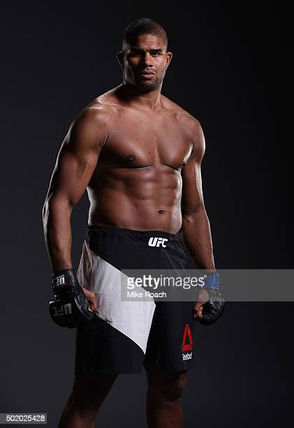 Alistair Overeem poses for a post fight portrait backstage during the UFC Fight Night event at the Amway Center on December 19 2015 in Orlando Florida
