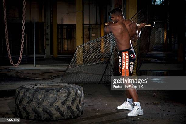 Alistair Overeem takes part in a feature shoot on May 12 2010 in Saint Louis Missouri