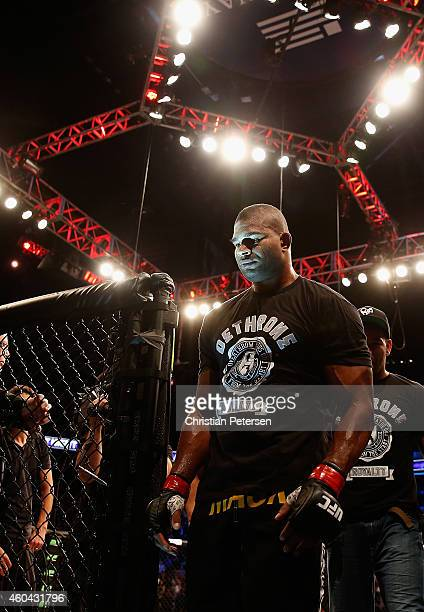Alistair Overeem walks from the octagon after his ko victory over Stefan Struve in their heavyweight bout during the UFC Fight Night event at the at...