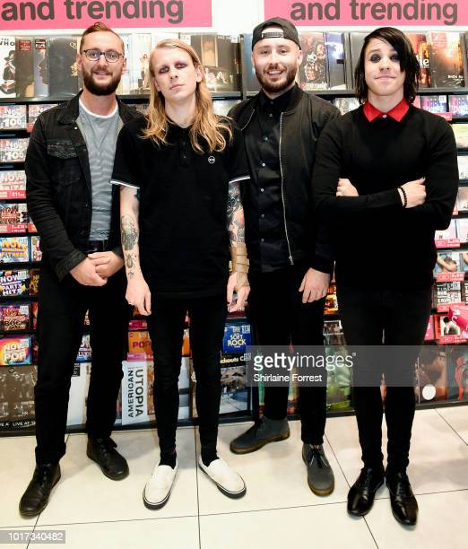 Alistair Testo, Benjamin Langford-Biss, Patrick Foley and Patty Walters of As It Is perform live and sign copies of their new album 'The Great...