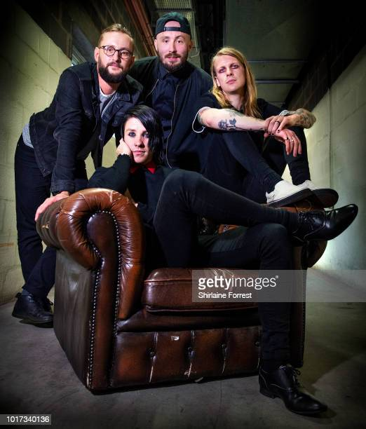 Alistair Testo Benjamin LangfordBiss Patrick Foley and Patty Walters of As It Is perform live and sign copies of their new album 'The Great...