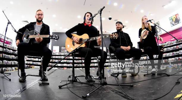 Alistair Testo, Patty Walters, Patrick Foley and Benjamin Langford-Biss of As It Is perform live and sign copies of their new album 'The Great...