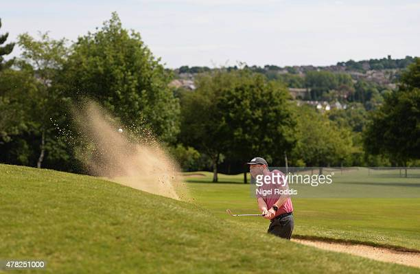 Alistair Thomas in action during the Golfbreakscom PGA Fourball Championship North Qualifier at Woodsome Hall Golf Course on June 24 2015 in...
