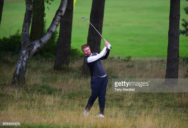 Alistair Waddell of Styal Golf Club plays his second shot on the 1st fairway during Day Three of the Galvin Green PGA Assistants' Championship at...