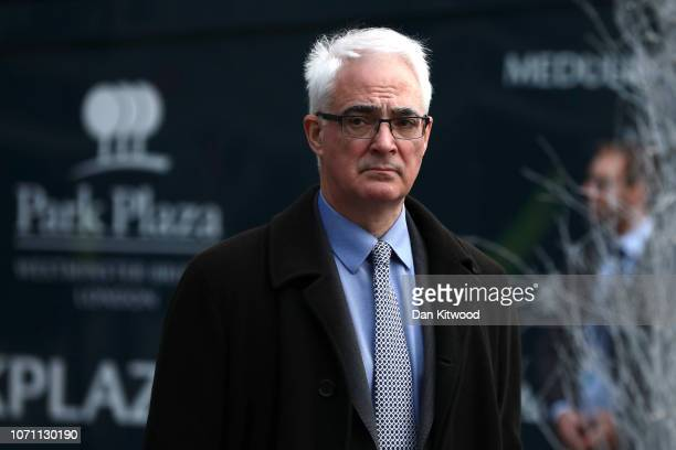 Alister Darling leaves the Park Plaza Hotel Westminster on December 10 2018 in London England The Government are believed to have delayed the...
