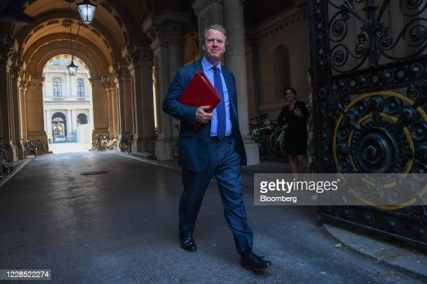 Alister Jack, U.K. Scottish secretary, departs from a meeting of cabinet ministers in London, U.K., on Tuesday, Sept. 15, 2020. U.K. Prime Minister...