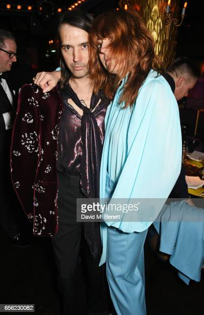 Alister Mackie and Kim Sion attend the Another Man Spring/Summer Issue launch dinner in association with Kronaby at Park Chinois on March 21 2017 in...