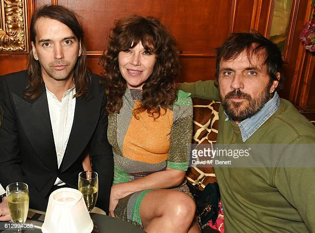 Alister Mackie Jess Morris and Andreas Kronthaler attend the Another Man A/W launch event hosted by Harry Styles Alister Mackie and Kris Van Assche...