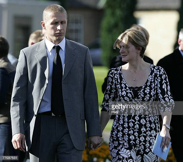 Alister McRae arrives for the funeral of Colin McRae and son Johnny at East Chapel, Daldowie Crematorium on September 26, 2007 in Glasgow, Scotland....