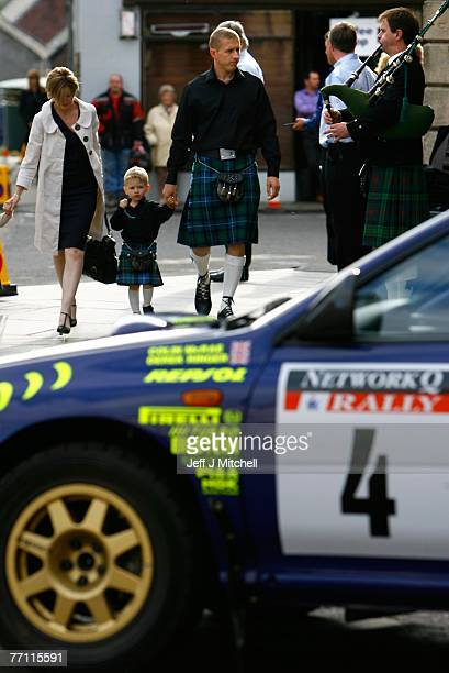 Alister McRaearrives at church as hundreds gathered in Lanark to pay tribute to former World Rally champion Colin McRae who died two weeks ago...