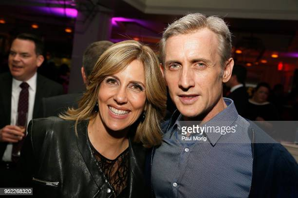 Alisyn Camerota and Dan Abrams attend the United Talent Agency White House Correspondence Dinner PreParty at Fiola Mare on April 27 2018 in...