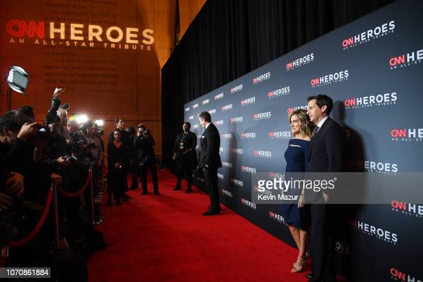 Alisyn Camerota and John Berman attend the 12th Annual CNN Heroes An AllStar Tribute at American Museum of Natural History on December 9 2018 in New...