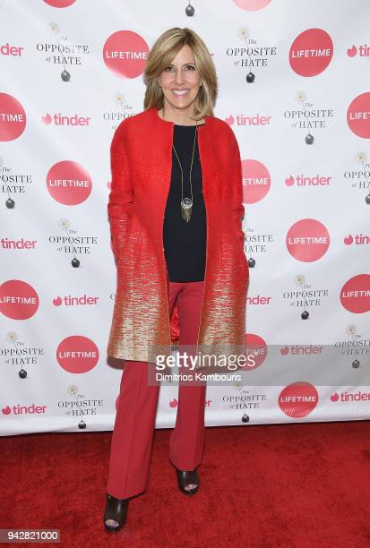Alisyn Camerota attends Sally Kohn Celebrates The Launch Of Her New Book 'The Opposite Of Hate' at Guggenheim Museum on April 6 2018 in New York City