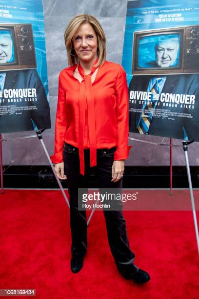 Alisyn Camerota attends the Divide and Conquer The Story of Roger Ailes New York Premiere at Paley Center For Media on November 15 2018 in New York...