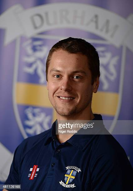 Alitair Maiden 2nd team coach of Durham poses for a portrait during the Durham CCC Photocall at The Riverside on March 28 2014 in ChesterLeStreet...