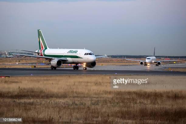 Alitalia Airbus waiting for take-off