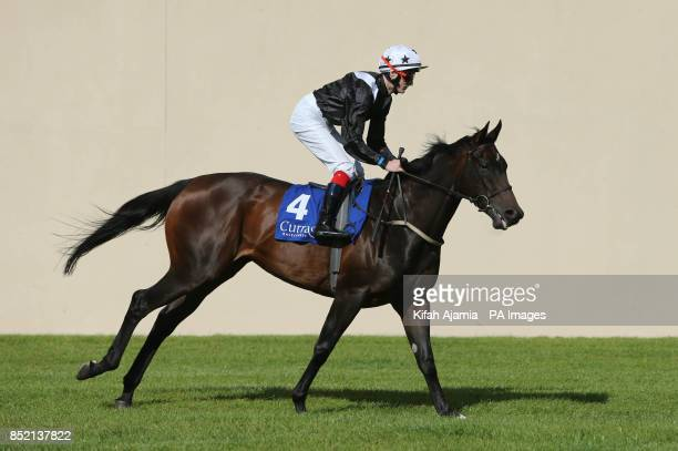 Alive Alive Oh and Jockey Fran Berry before the Lanwades Stud Blandford Stakes during Lanwades Stud Blandford Stakes/RACE 40th Anniversary day at...