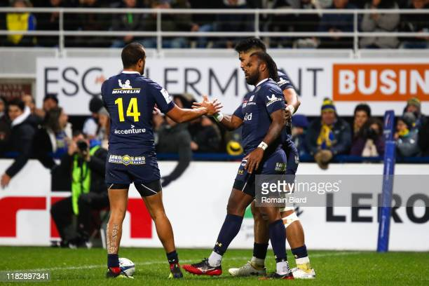 Alivereti RAKA of Clermont and Peter BETHAM of Clermont during the European Rugby Champions Cup Pool 3 match between ASM Clermont Auvergne and...