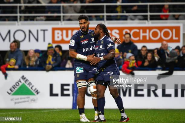 Alivereti RAKA of Clermont and Sitaleki TIMANI of Clermont during the European Rugby Champions Cup, Pool 3 match between ASM Clermont Auvergne and...