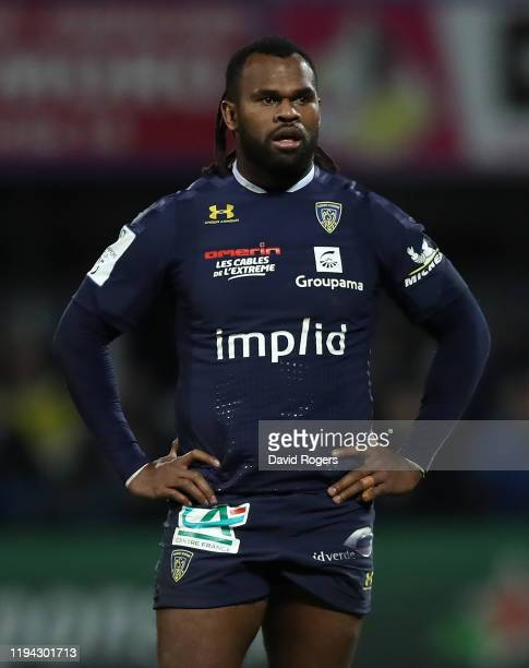 Alivereti Raka of Clermont Auvergne looks on during the Heineken Champions Cup Round 4 match between ASM Clermont Auvergne and Bath Rugby at Parc des...