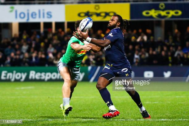 Alivereti RAKA of Clermont during the European Rugby Champions Cup Pool 3 match between ASM Clermont Auvergne and Harlequin FC on November 16 2019 in...