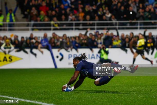 Alivereti RAKA of Clermont during the European Rugby Champions Cup, Pool 3 match between ASM Clermont Auvergne and Harlequin FC on November 16, 2019...
